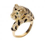 Кольцо с головой леопарда